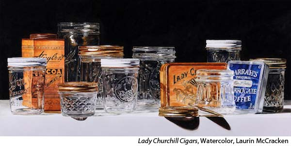 Photo Realistic Jars and Glass Still life in Watercolor with Laurin McCracken