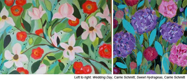 Learn to paint online with Acrylic artist Carrie Schmitt