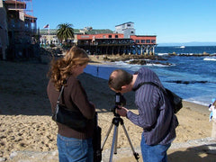 Creative Catalyst Filming Ann Baldwin and Traci Bautista in Asilomar