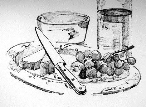 Cheese & Grapes  by Carolee Clark