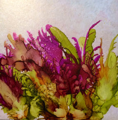 Alcohol Ink on Tile by Carol LaGrow