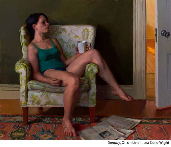 Interview with Oil Painter Lea Colie Wight - The figure sitting in a chair