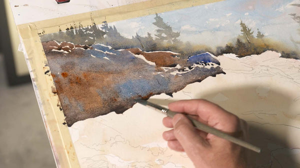 Learn to paint beautiful washes in watercolor with Michael Holter