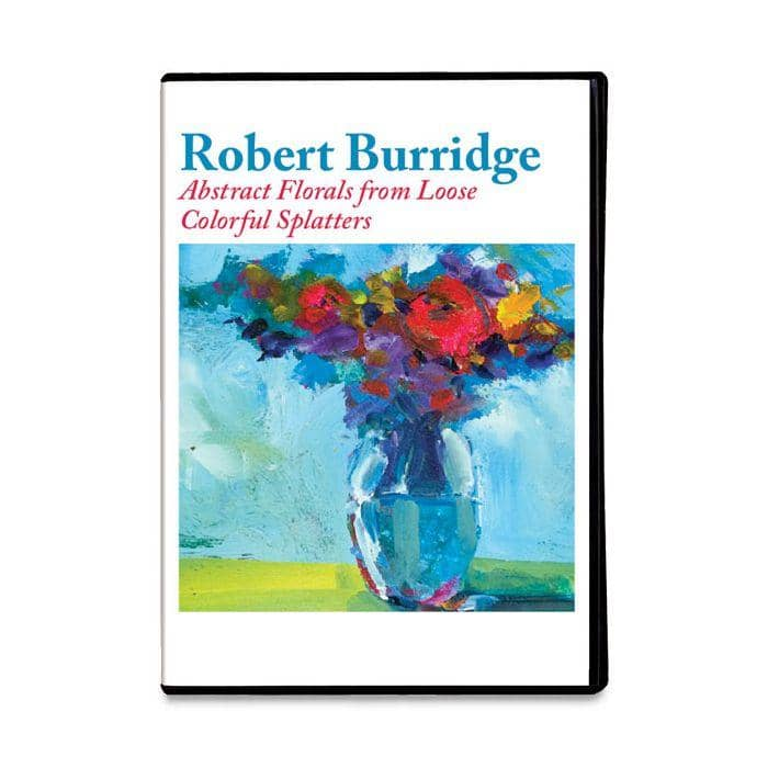 Abstract Florals from Loose Colorful Splatters with Robert Burridge