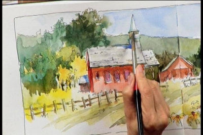 Sketching Techniques with Watercolor with Brenda Swenson