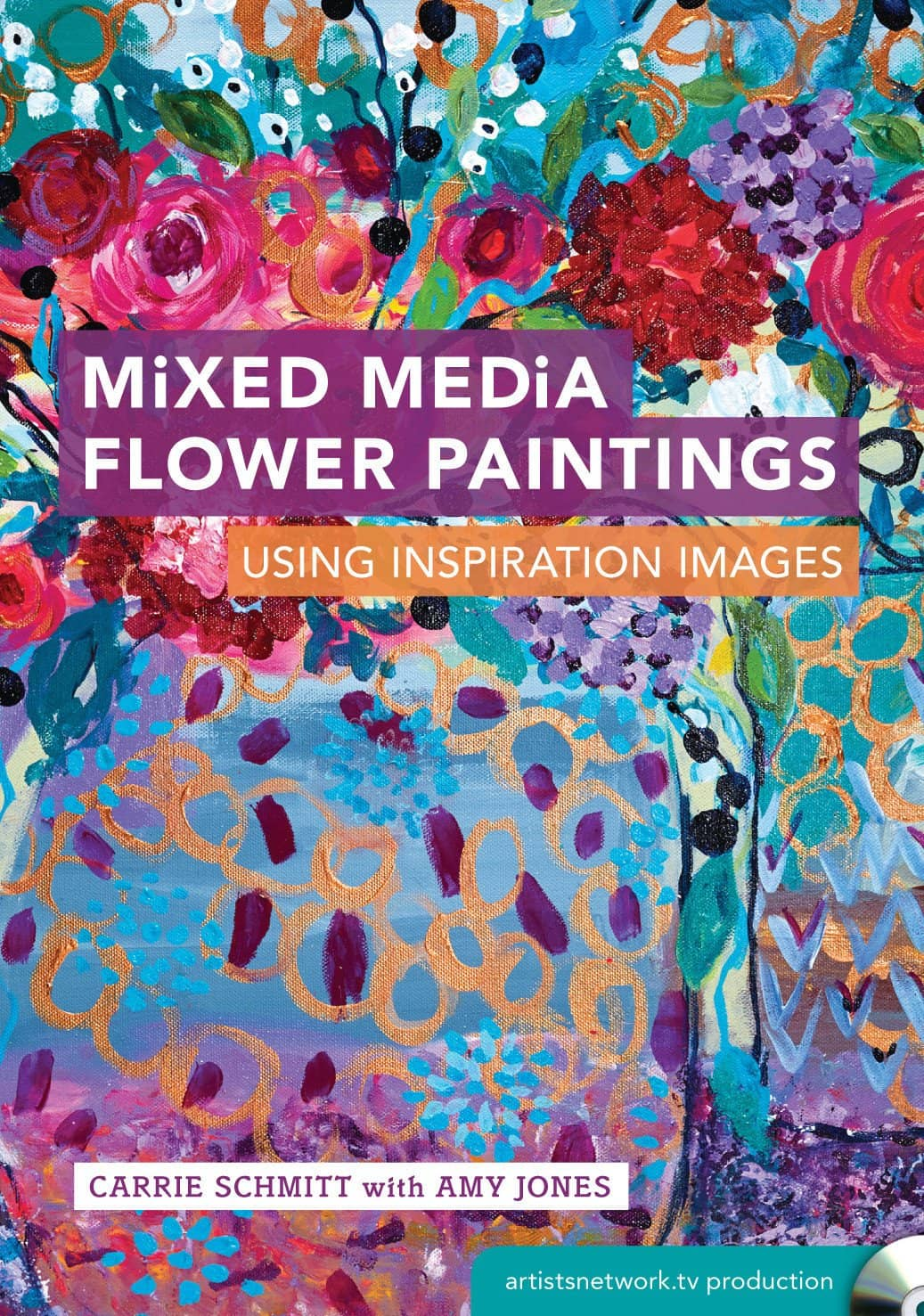 Mixed Media Flower Paintings Using Inspiration Images with Carrie Schmitt and Amy Jones