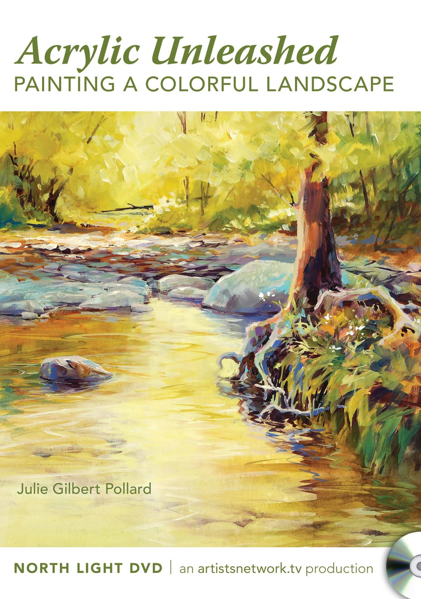 Acrylic Unleashed:  Painting a Colorful Landscape with Julie Gilbert Pollard Art Instruction Video-DVD from Creative Catalyst