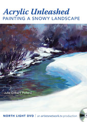 Acrylic Unleashed:  Painting a Snowy Landscape with Julie Gilbert Pollard