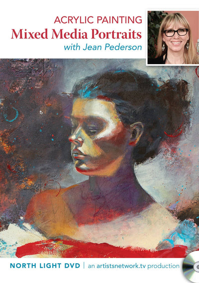 Acrylic Painting: Mixed Media Portraits with Jean Pederson Art Instruction Video-DVD from Creative Catalyst
