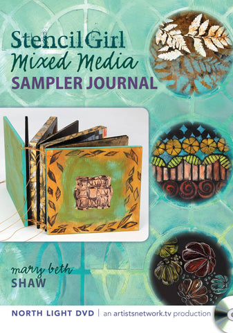 Stencil Girl Mixed Media Sampler Journal with Mary Beth Shaw