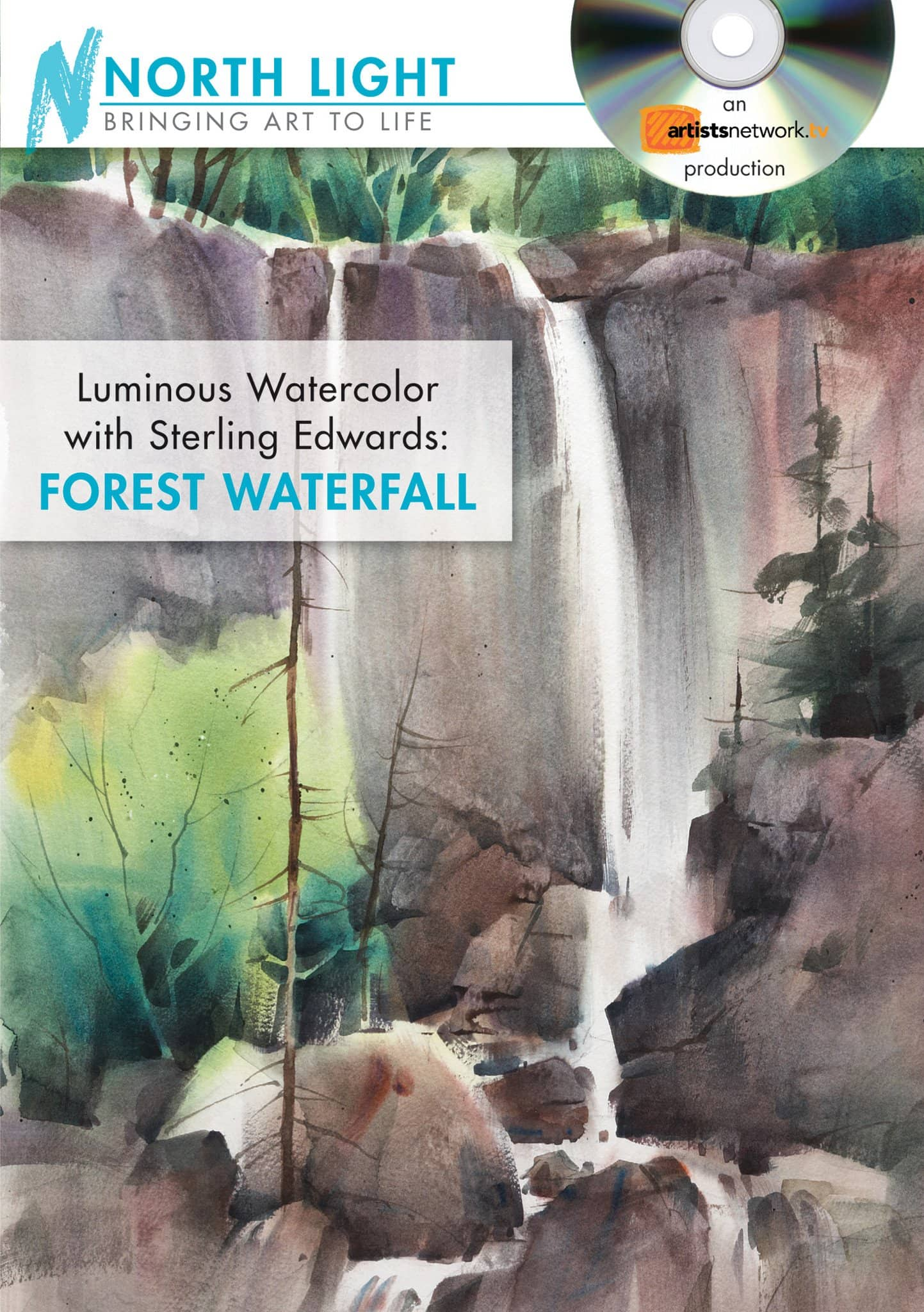 Luminous Watercolor:  Forest Waterfall with Sterling Edwards