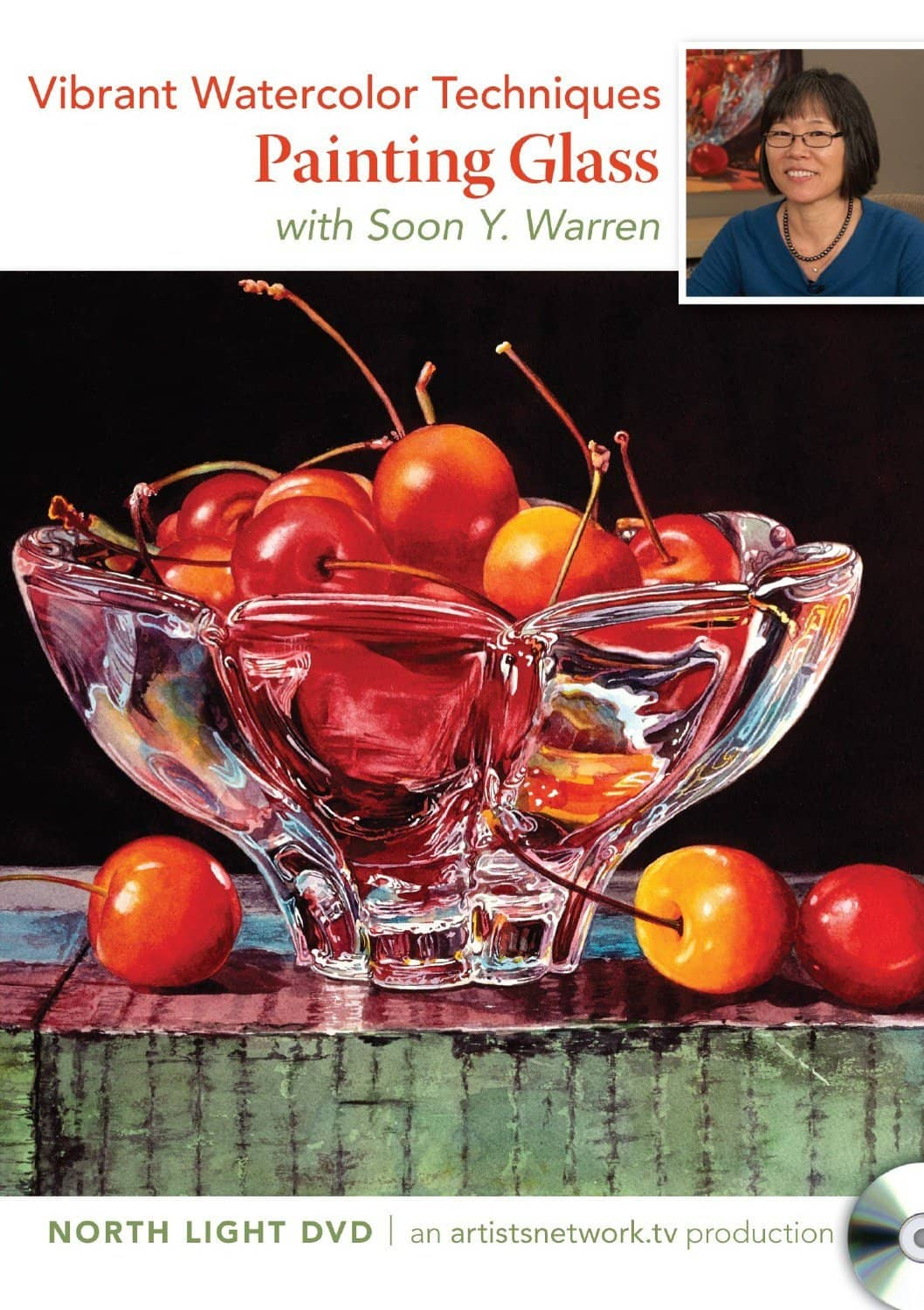 Vibrant Watercolor: Glass with Soon Y. Warren Art Instruction Video-DVD from Creative Catalyst