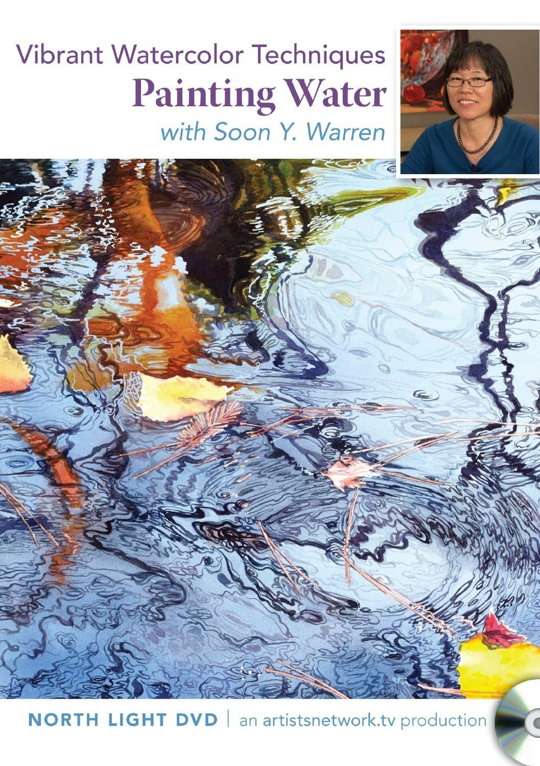 Vibrant Watercolors: Painting Water with Soon Y. Warren Art Instruction Video-DVD from Creative Catalyst
