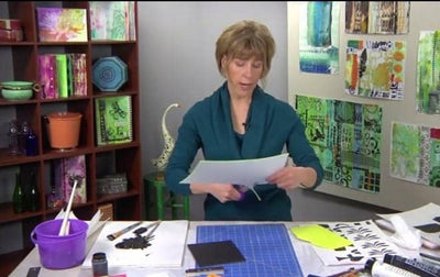 Paint, Print, Layer, Collage with Margaret Applin