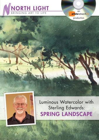 Luminous Watercolor with Sterling Edwards:  Spring Landscape