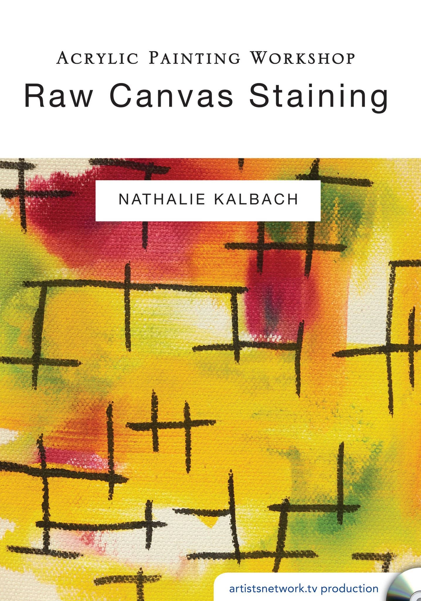 Acrylic Painting Workshop:  Raw Canvas Staining with Nathalie Kalbach
