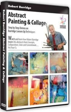 Abstract Painting & Collage with Robert Burridge Art Instruction Video-DVD from Creative Catalyst