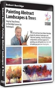 Painting Abstract Landscapes & Trees with Robert Burridge Art Instruction Video-DVD from Creative Catalyst