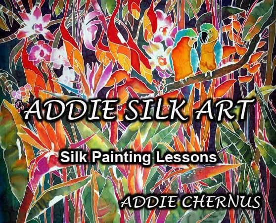 Addie Chernus: Addie Silk Art: Silk Painting Lessons