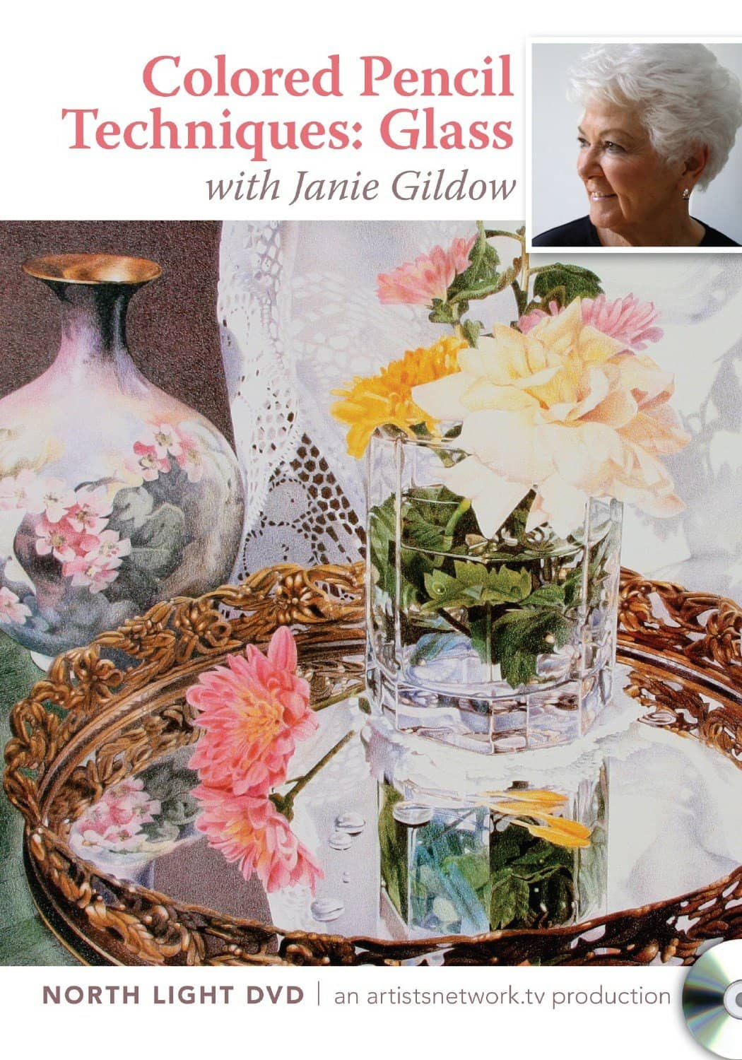 Colored Pencil Techniques:  Glass with Janie Gildow Art Instruction Video-DVD from Creative Catalyst