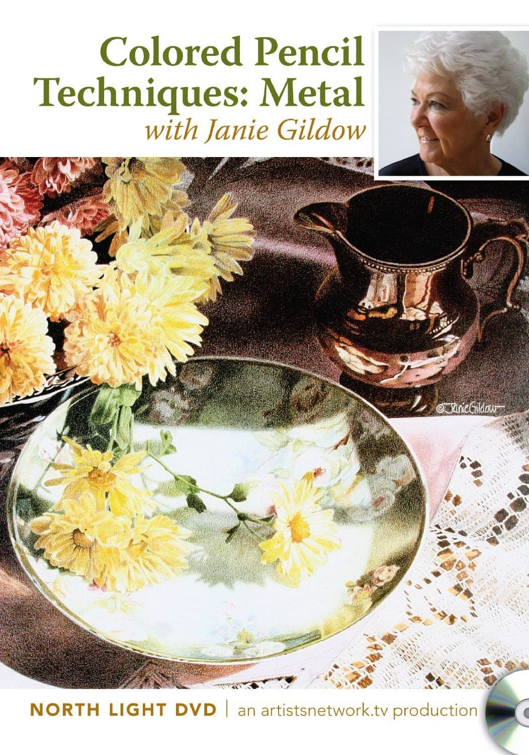 Colored Pencil Techniques:  Metal with Janie Gildow Art Instruction Video-DVD from Creative Catalyst