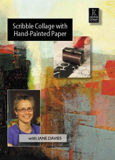 Scribble Collage: with Hand-Painted Paper with Jane Davies Art Instruction Video-DVD from Creative Catalyst