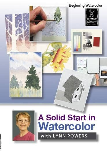 A Solid Start in Watercolor with Lynn Powers Art Instruction Video-DVD from Creative Catalyst