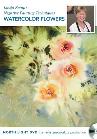 Linda Kemp's Negative Painting Techniques:  Watercolor Flowers