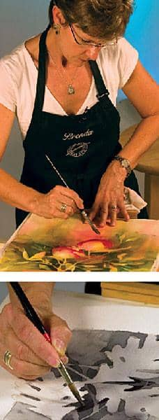 Negative Painting with Watercolor with Brenda Swenson