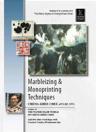 Marbleizing and Monoprinting Technique with Cheng-Khee Chee Art Instruction Video-DVD from Creative Catalyst