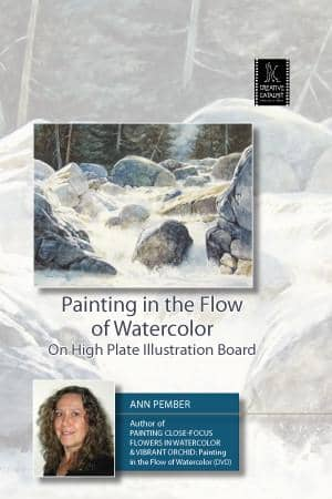 Painting in the Flow of Watercolor On High Plate Illustration Board with Ann Pember Art Instruction Video-DVD from Creative Catalyst
