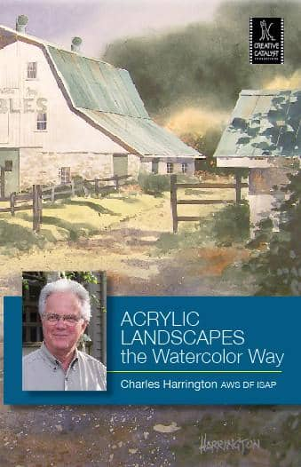 Acrylic Landscapes the Watercolor Way with Charles Harrington Art Instruction Video-DVD from Creative Catalyst