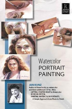 Watercolor Portrait Painting: Female with Jan Kunz Art Instruction Video-DVD from Creative Catalyst