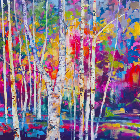 'Birch Trees' Print Hand Signed By Julie