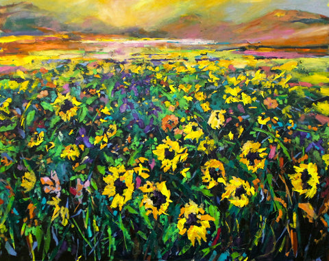 'Field of Gold' Print Hand Signed by Julie