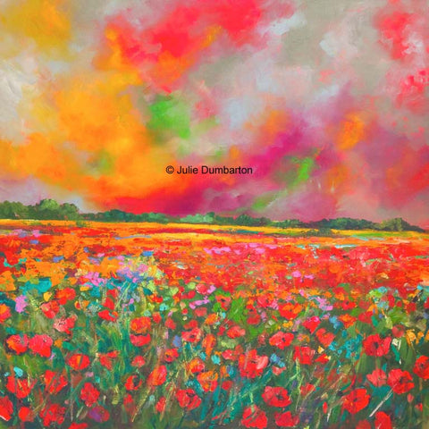 'Poppy Glory' Print Hand Signed By Julie