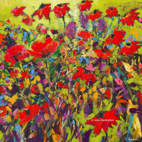 'Poppy Bomb' Print Hand Signed By Julie