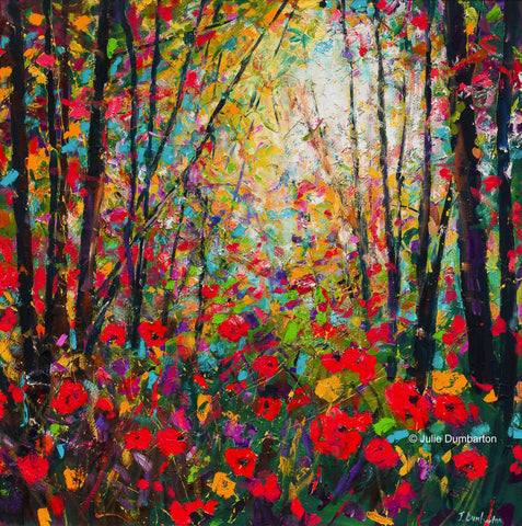 'Poppy Forest' Print Hand Signed By Julie