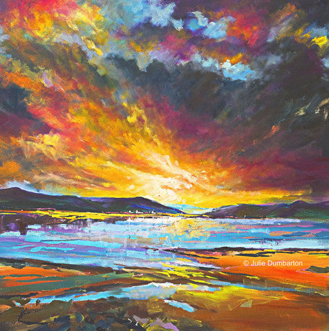 'Scottish Skies' Print Hand Signed by Julie