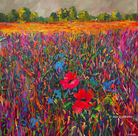 'Two Poppies' Print Hand Signed By Julie