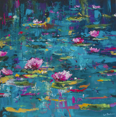 'Waterlillies' Print Hand Signed By Julie