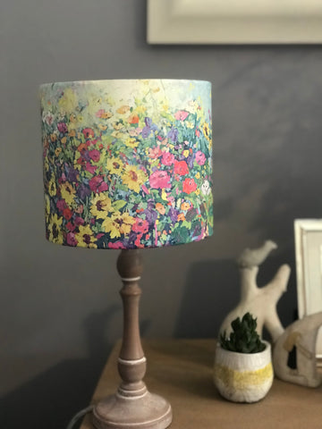 'Sunflowers and Iris's' lampshade