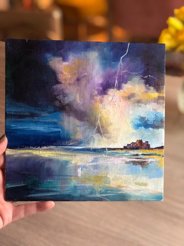 'Lightening Over Bamburgh'