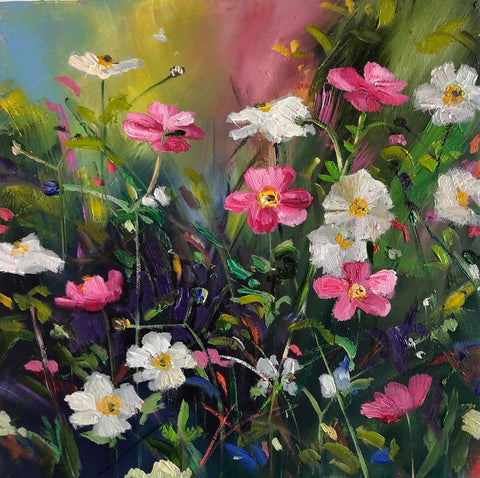 'Pink and White Anemones'