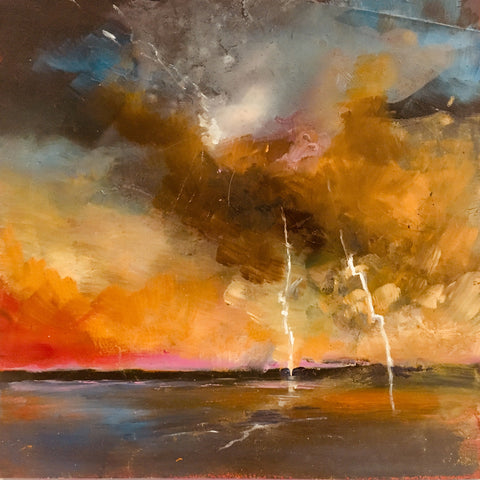 Midi original oil painting 'Thor's Fury'