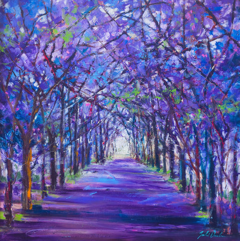 'Lilac Trees' Print Hand Signed By Julie