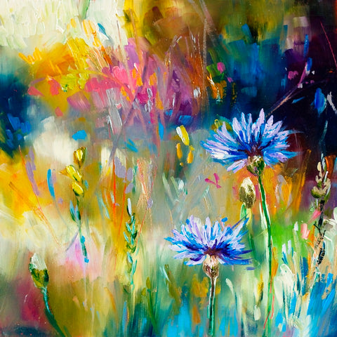 'Cornflowers' Limited Edition Mini Print, Hand Signed By Julie