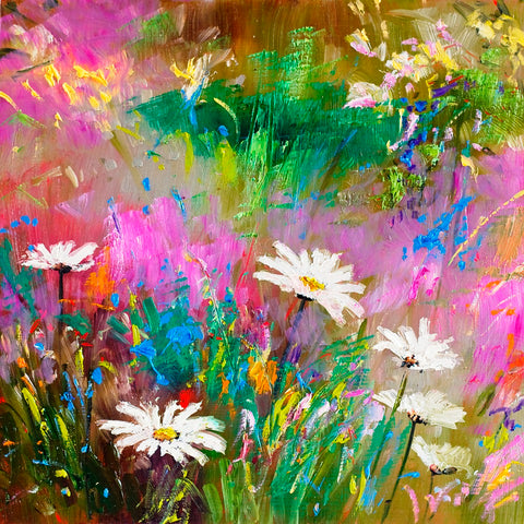 'Daisies' Limited Edition Mini Print, Hand Signed By Julie