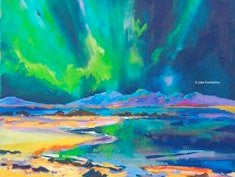 Postcard Magnet 'Northern Lights'