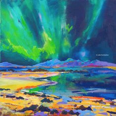 'Northern Lights' Print Hand Signed By Julie